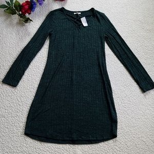 Maurices Knit Sweater Dress Women's XS Green NWT